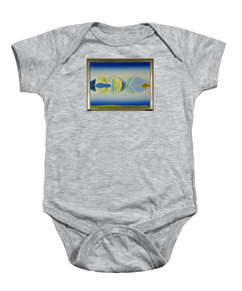 Landscape Baby Onesie featuring the painting Arctic Landscape by Jarle Rosseland
