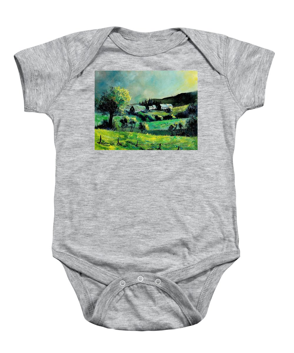 Spring Baby Onesie featuring the painting Ardennes 79 by Pol Ledent