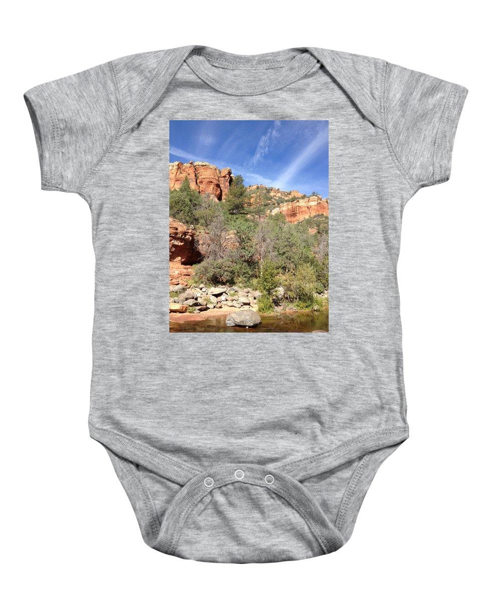 Arizona Baby Onesie featuring the photograph Arizona Canyon Sky Four by Christine Oleson