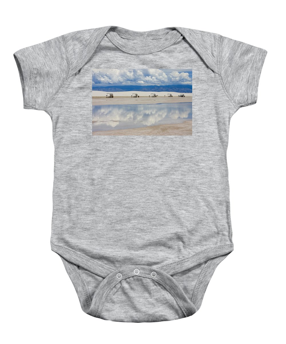 New Mexico Baby Onesie featuring the photograph Armageddon Picnic by Skip Hunt