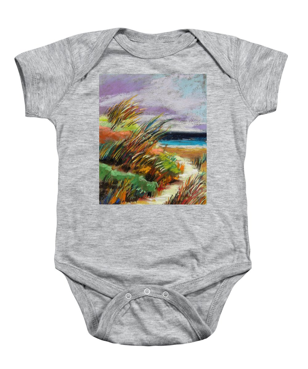 Sea Baby Onesie featuring the painting Around The Dune by John Williams