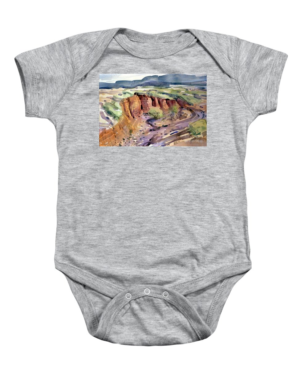 Arroyo Baby Onesie featuring the painting Arroyo by Donald Maier
