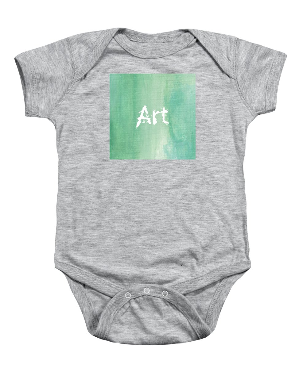 Love Baby Onesie featuring the mixed media ART by Kathleen Wong