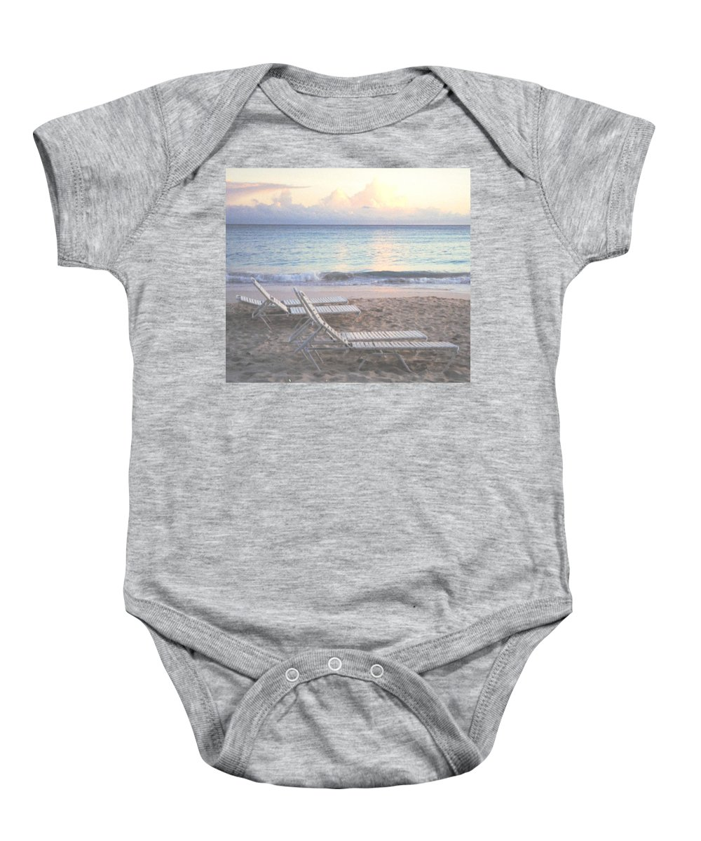 Aruba Baby Onesie featuring the photograph Aruba Beach by Ian MacDonald