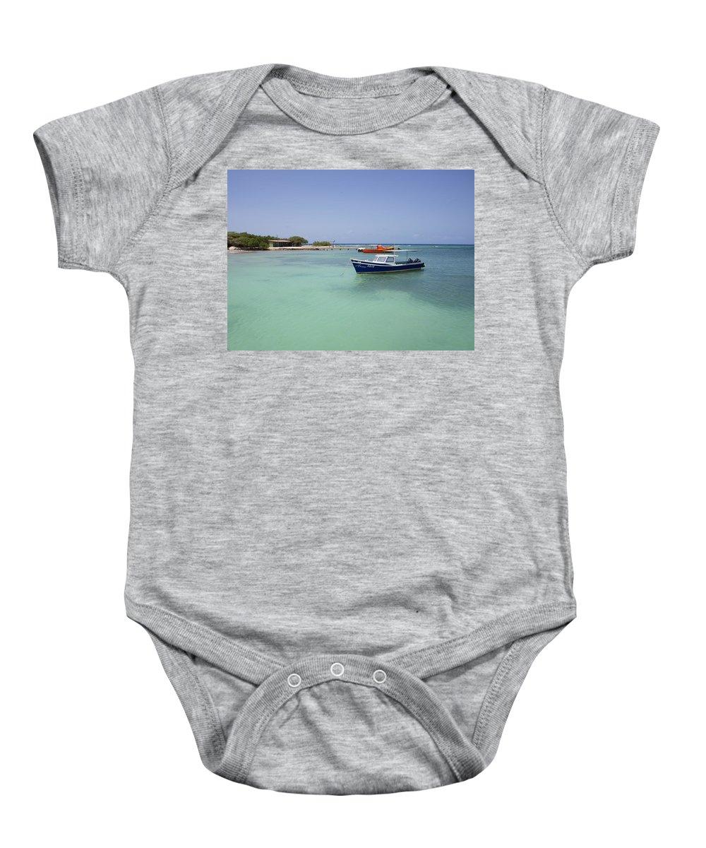 Aruba Baby Onesie featuring the photograph Aruba Rogers Beach by JG Thompson