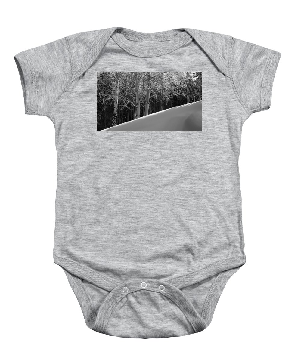 Colorado Baby Onesie featuring the photograph Aspencade by Skip Hunt