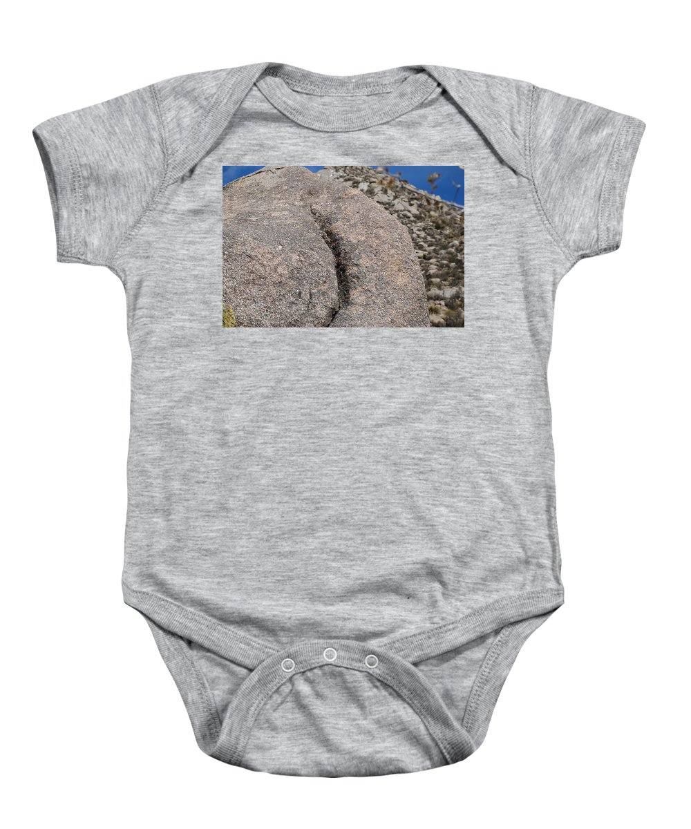Pop Art Baby Onesie featuring the photograph Ass Rock New Mexico by Rob Hans