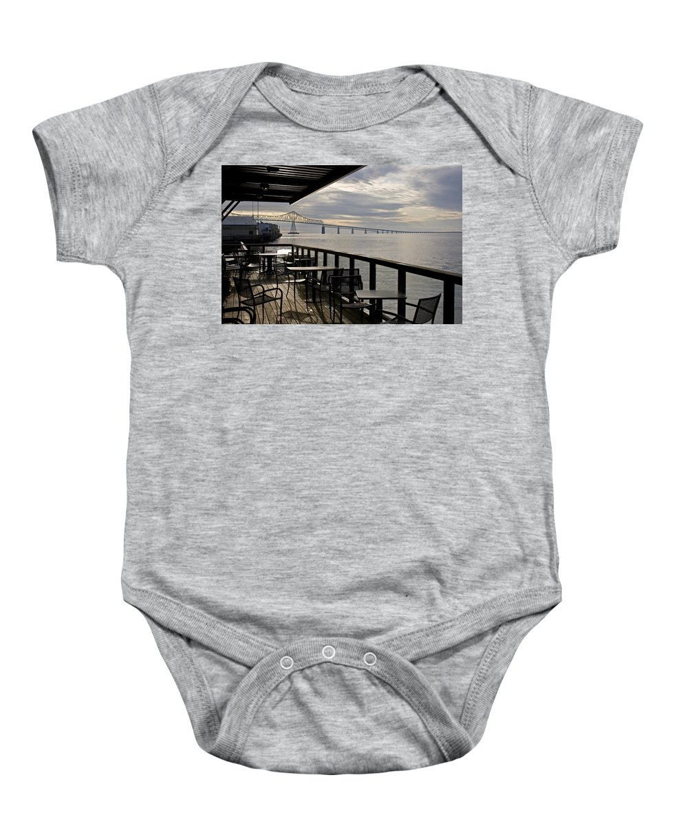 Scenic Baby Onesie featuring the photograph Astoria by Lee Santa