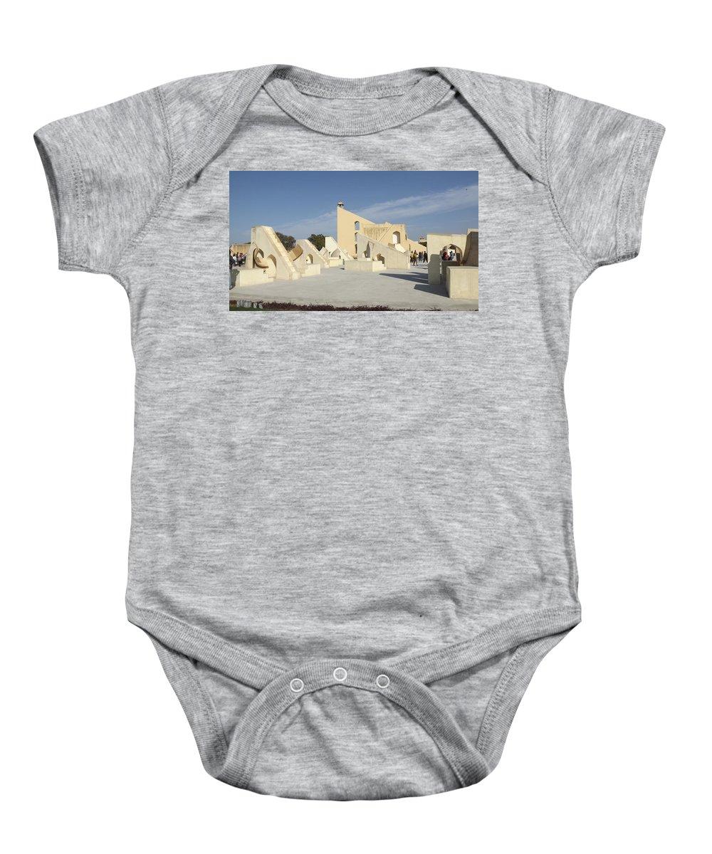 Jantar Mantar Baby Onesie featuring the photograph Astronomy Of Giants. Jantar Mantar. by Elena Perelman