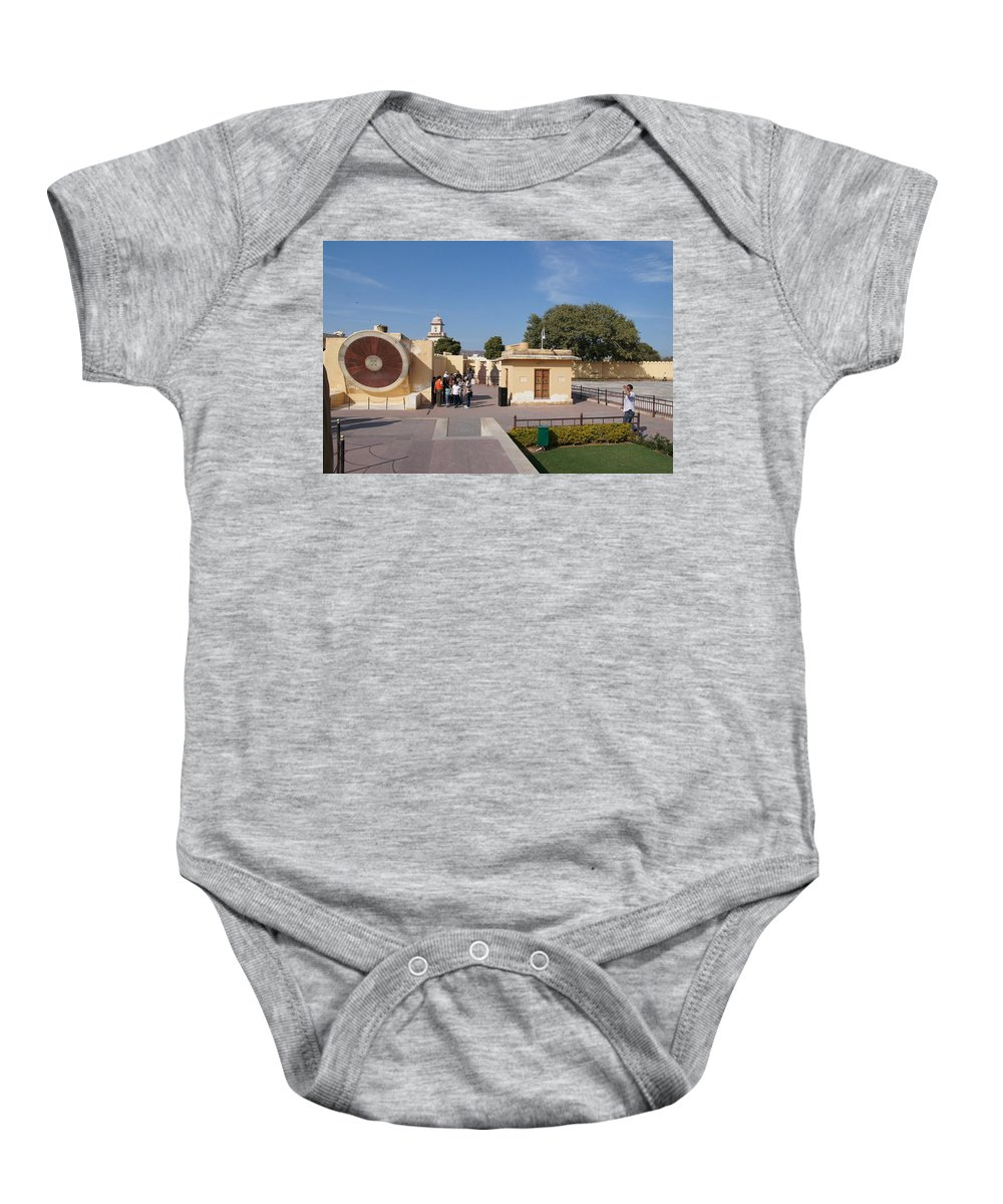 Astronomy Of Giants. Narivalaya Yantra. Jantar Mantar Baby Onesie featuring the photograph Astronomy Of Giants. Narivalaya Yantra. by Elena Perelman