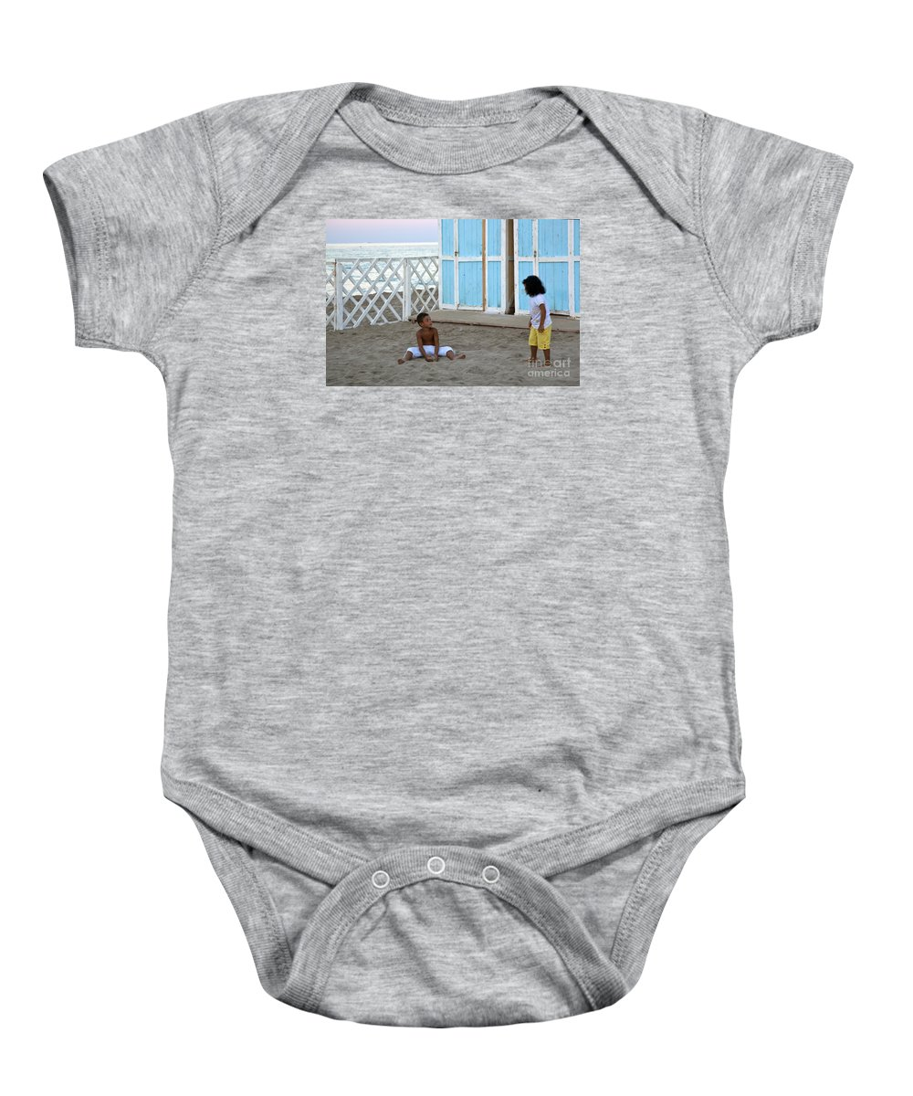 Boy Baby Onesie featuring the photograph At The End Of The Day It's Just Us by Madeline Ellis