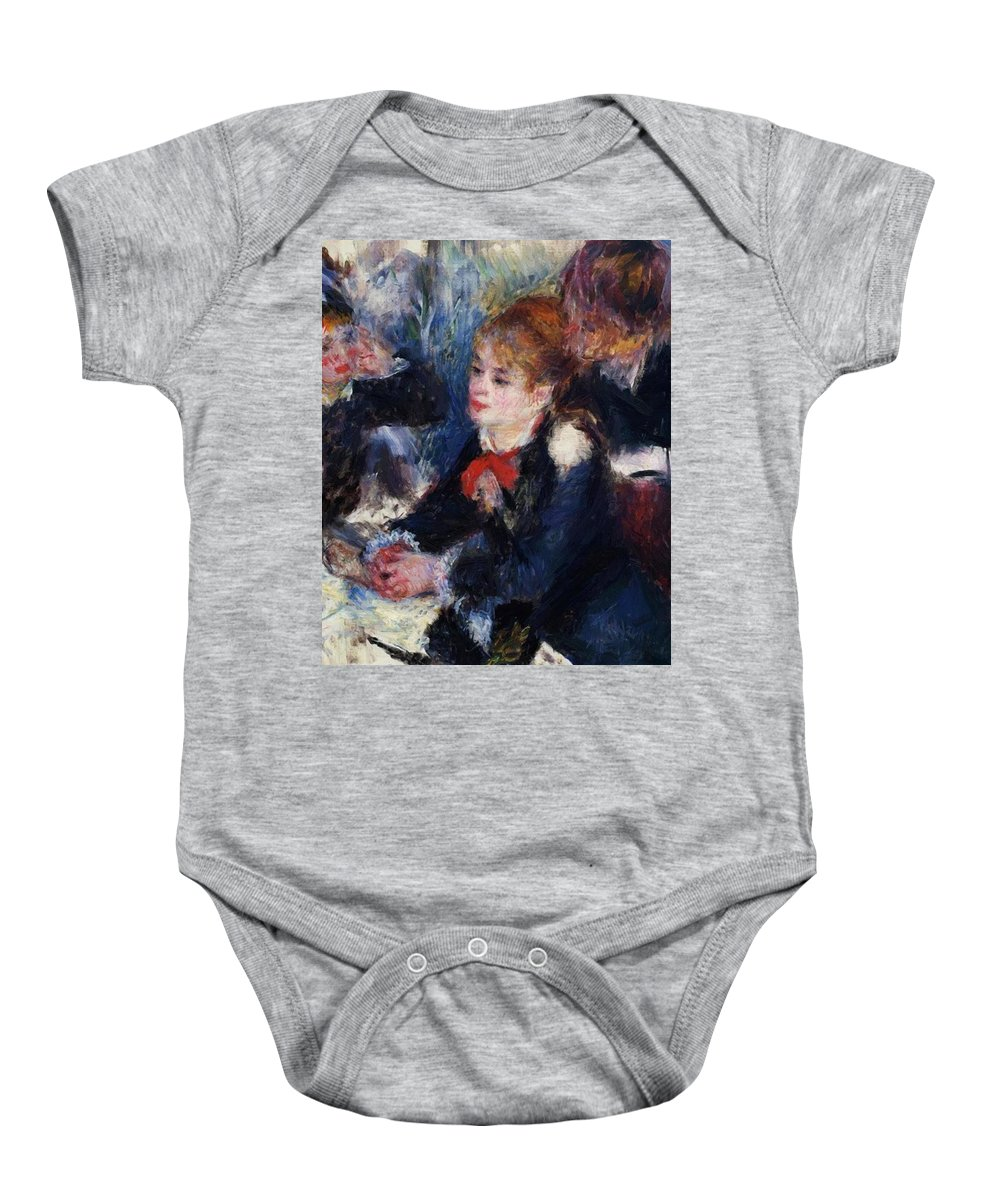 At Baby Onesie featuring the painting At The Milliner S by Renoir PierreAuguste