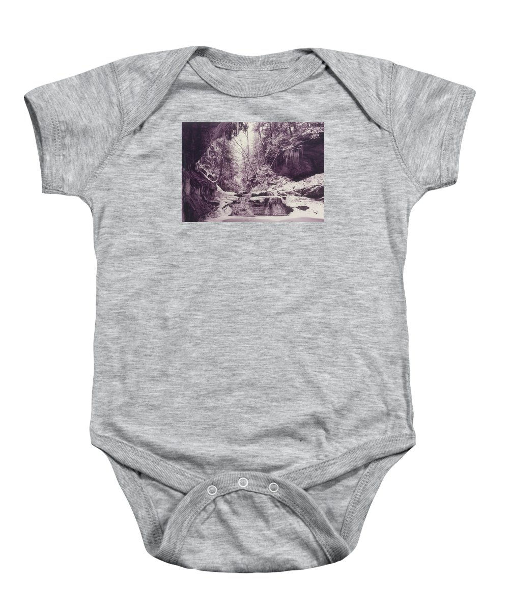 Landscape Baby Onesie featuring the photograph Stebbins Gulch In Winter by Rusty Ruckel