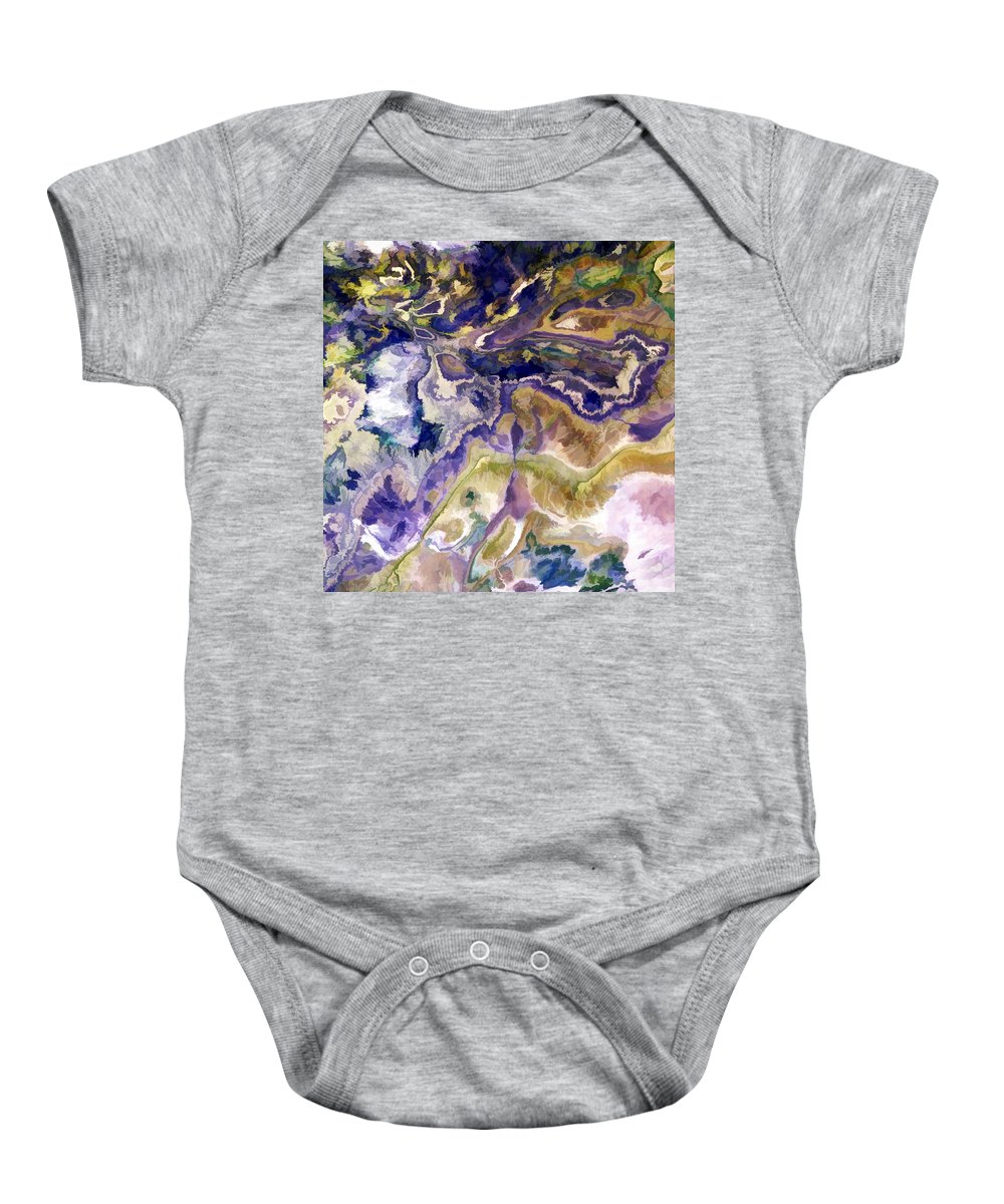 Landsat Baby Onesie featuring the painting Atlas Mountains by Elaine Plesser