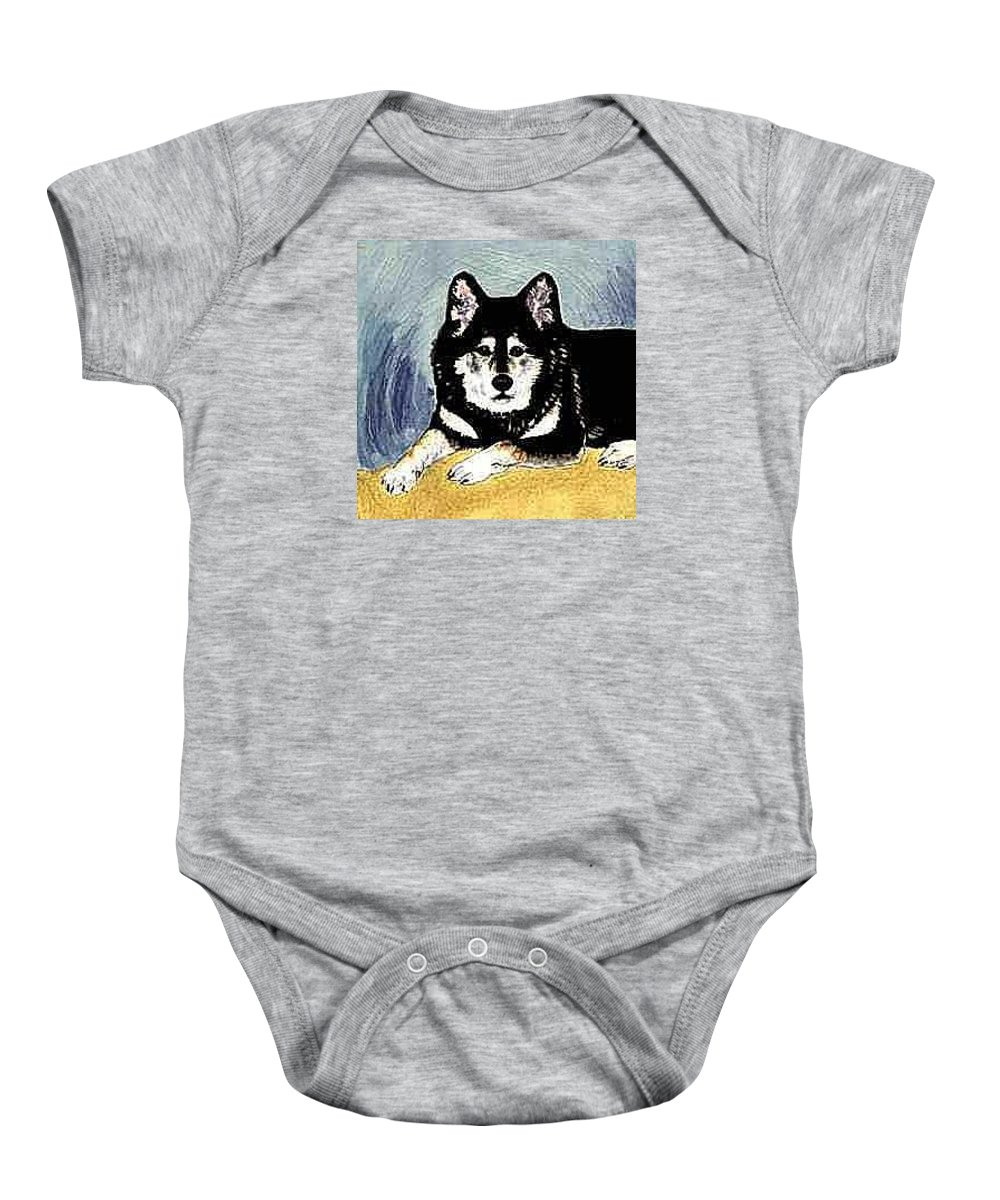 Portraits Baby Onesie featuring the painting Audra by Dy Witt