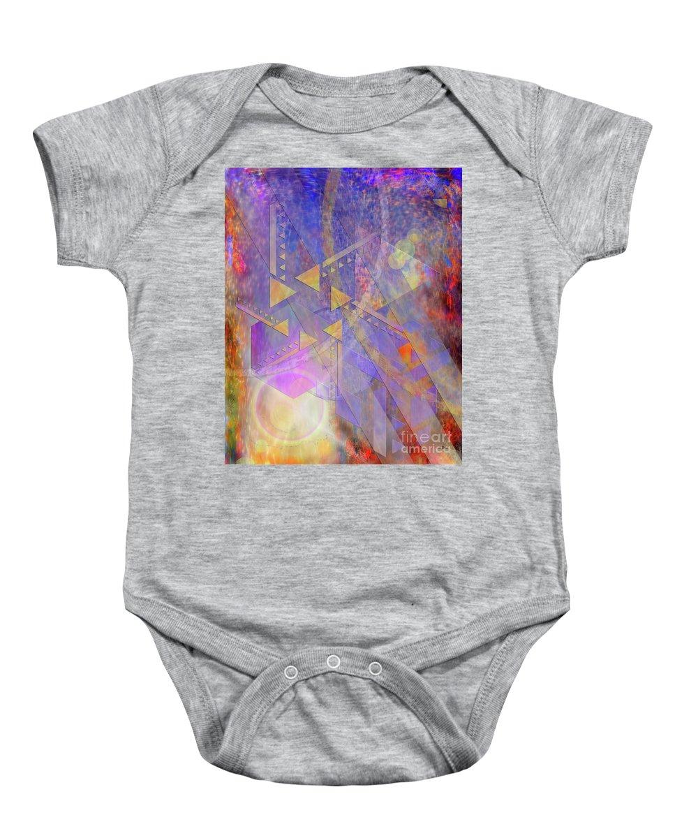 Aurora Aperture Baby Onesie featuring the digital art Aurora Aperture by John Beck