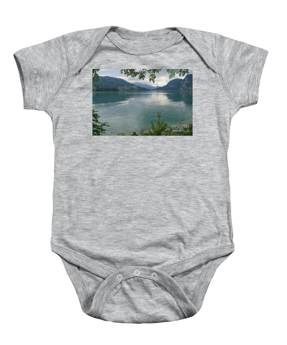 Austria Baby Onesie featuring the photograph Austrian Lake by Carol Groenen
