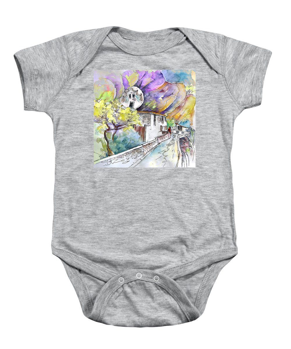Arnedillo Baby Onesie featuring the painting Autol In La Rioja Spain 03 by Miki De Goodaboom