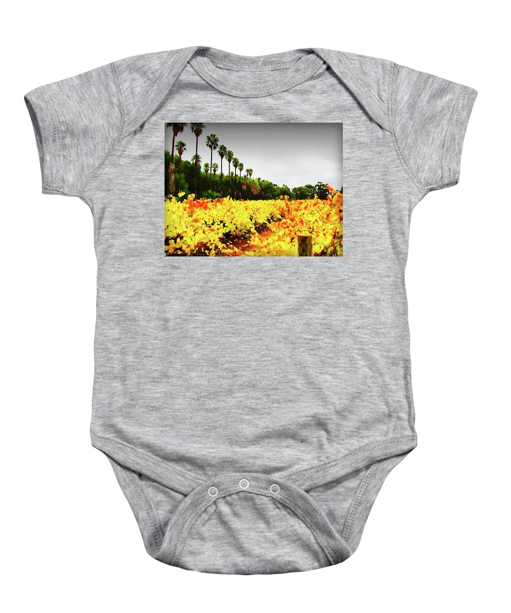 Palm Trees Baby Onesie featuring the photograph Autumn Contrasts by Douglas Barnard