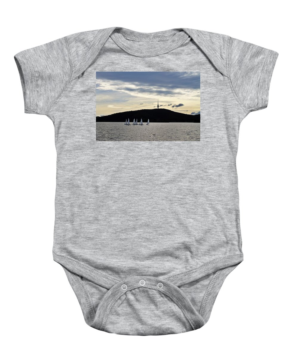 Afternoon Baby Onesie featuring the photograph Autumn Regatta by Anthony Croke