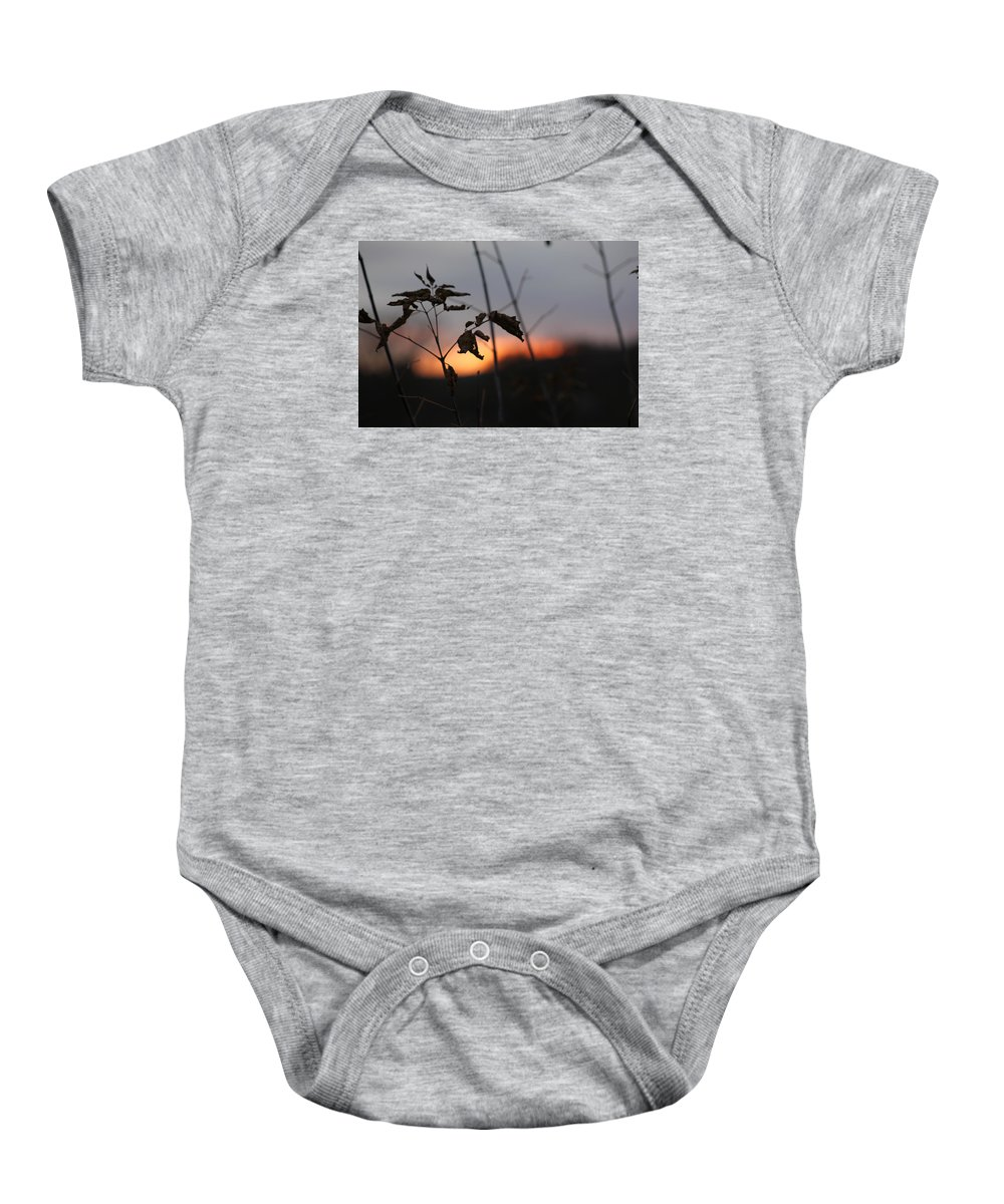 Sunset Baby Onesie featuring the photograph Autumn Sunset by Thomas Wagner