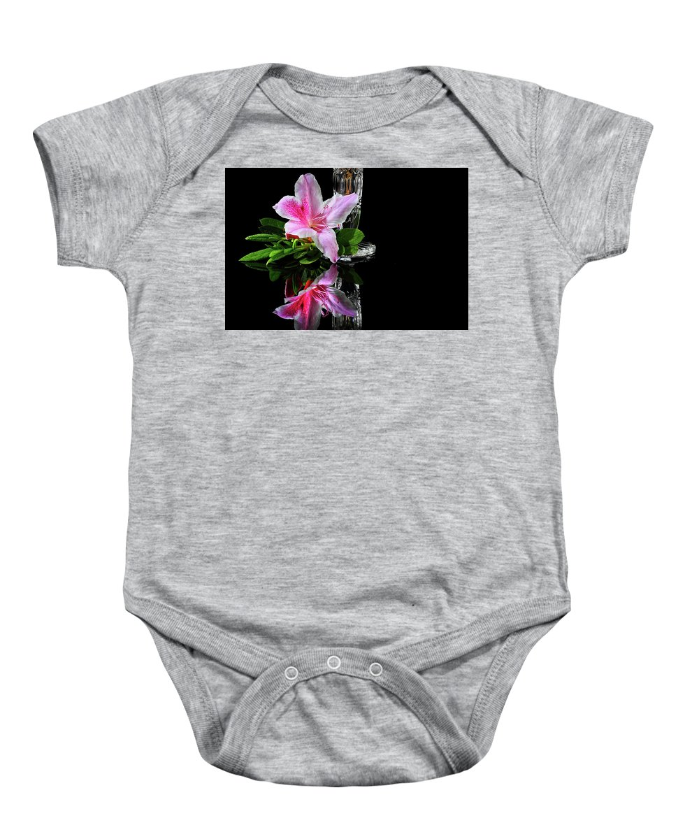 Azalea Baby Onesie featuring the photograph Azalea Times Two by Janice Carter