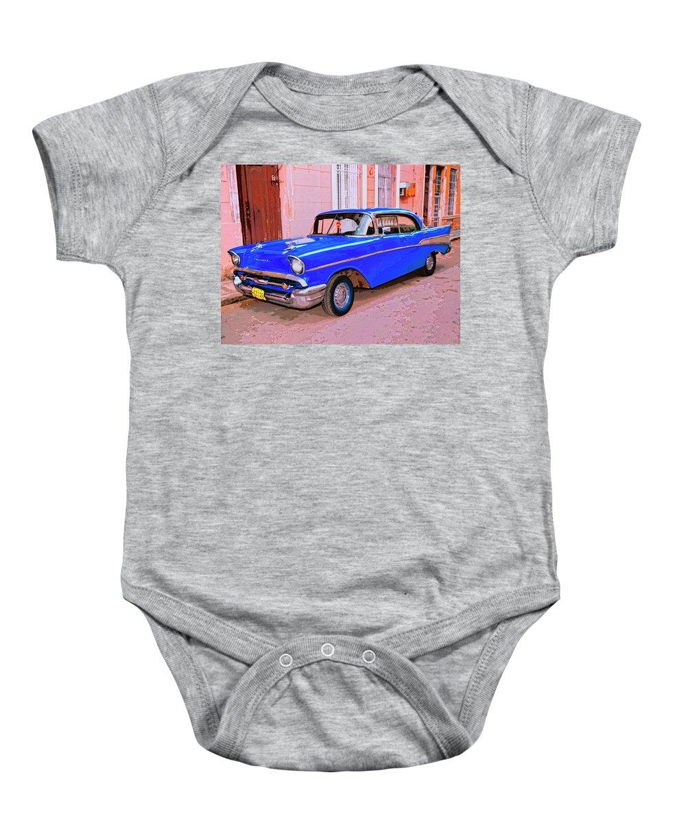 Azul Cobalto Baby Onesie featuring the mixed media Azul Cobalto by Dominic Piperata