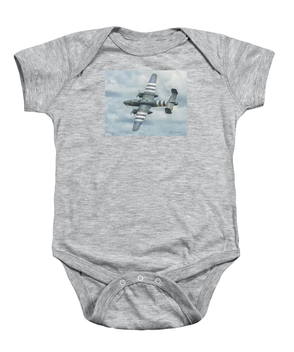 B-25j Mitchell Baby Onesie featuring the photograph B-25j Mitchell by CR Courson