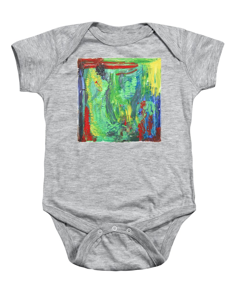 B Beautifull Baby Onesie featuring the painting B-beautifull by Sitara Bruns