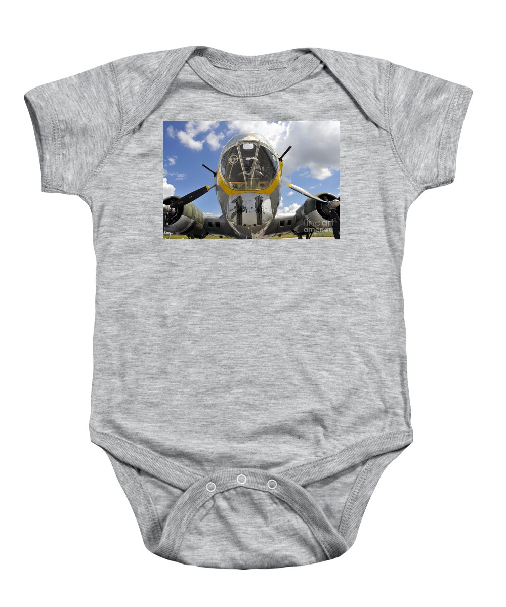 B 17 Baby Onesie featuring the photograph B Seventeen Nose by David Lee Thompson