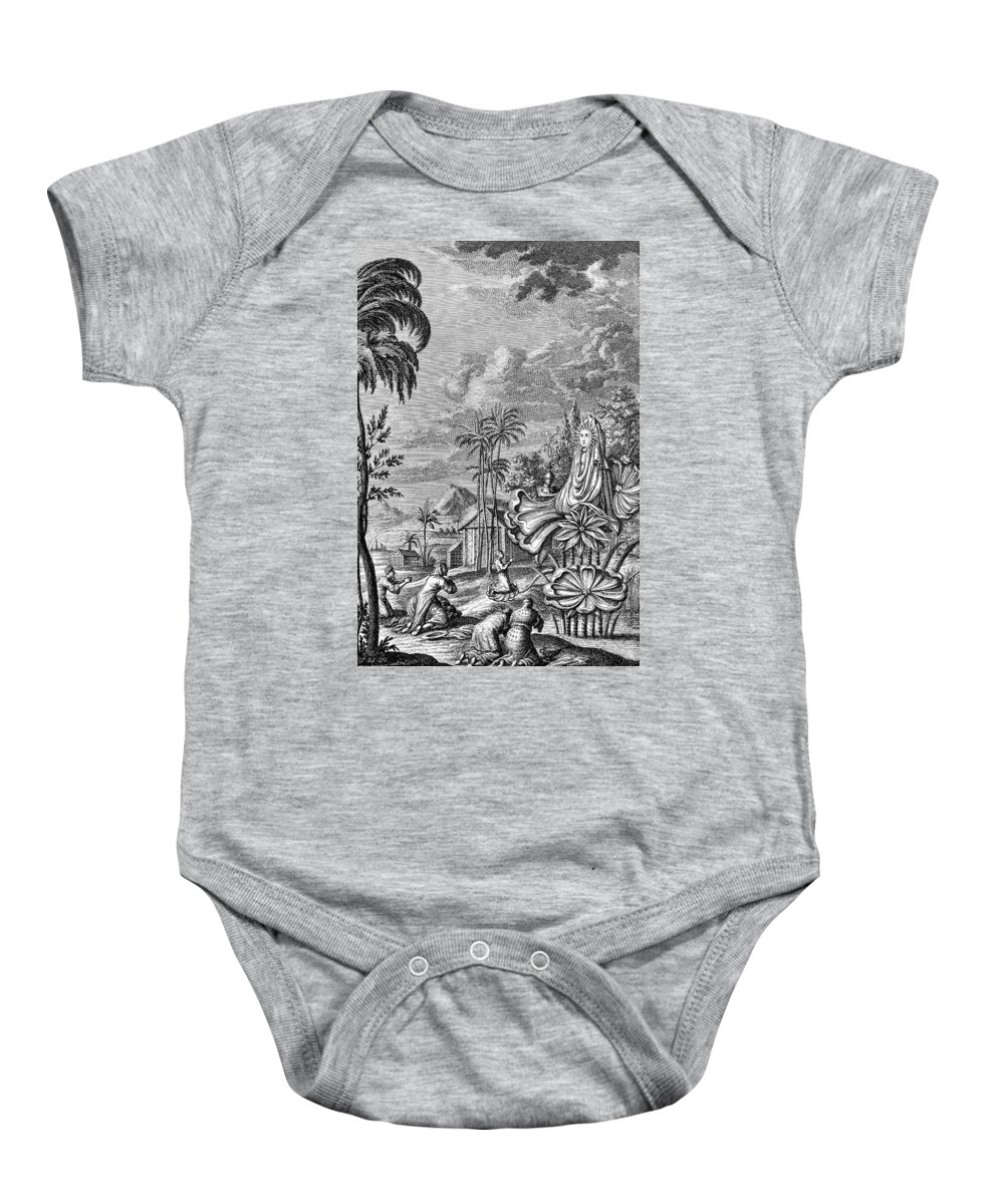Ancient Baby Onesie featuring the photograph Babylon: Sun Worship by Granger