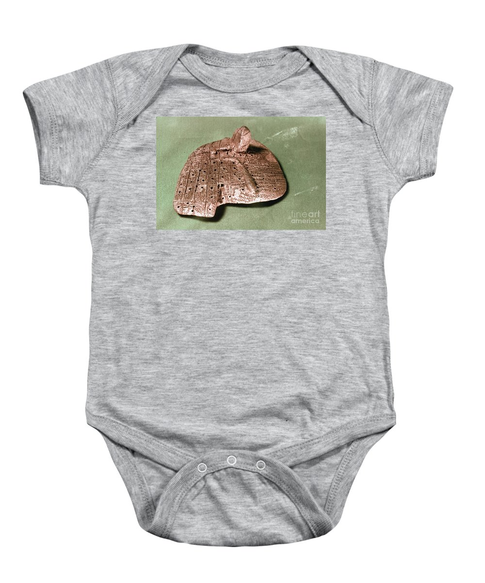 Ancient Baby Onesie featuring the photograph Babylonian Cuneiform by Granger