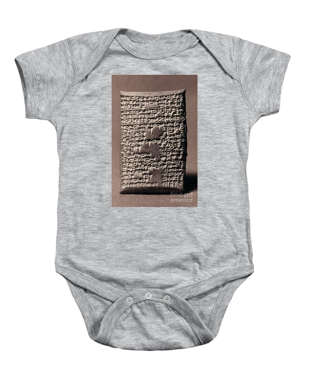 17th Century B.c. Baby Onesie featuring the photograph Babylonian Recipies by Granger