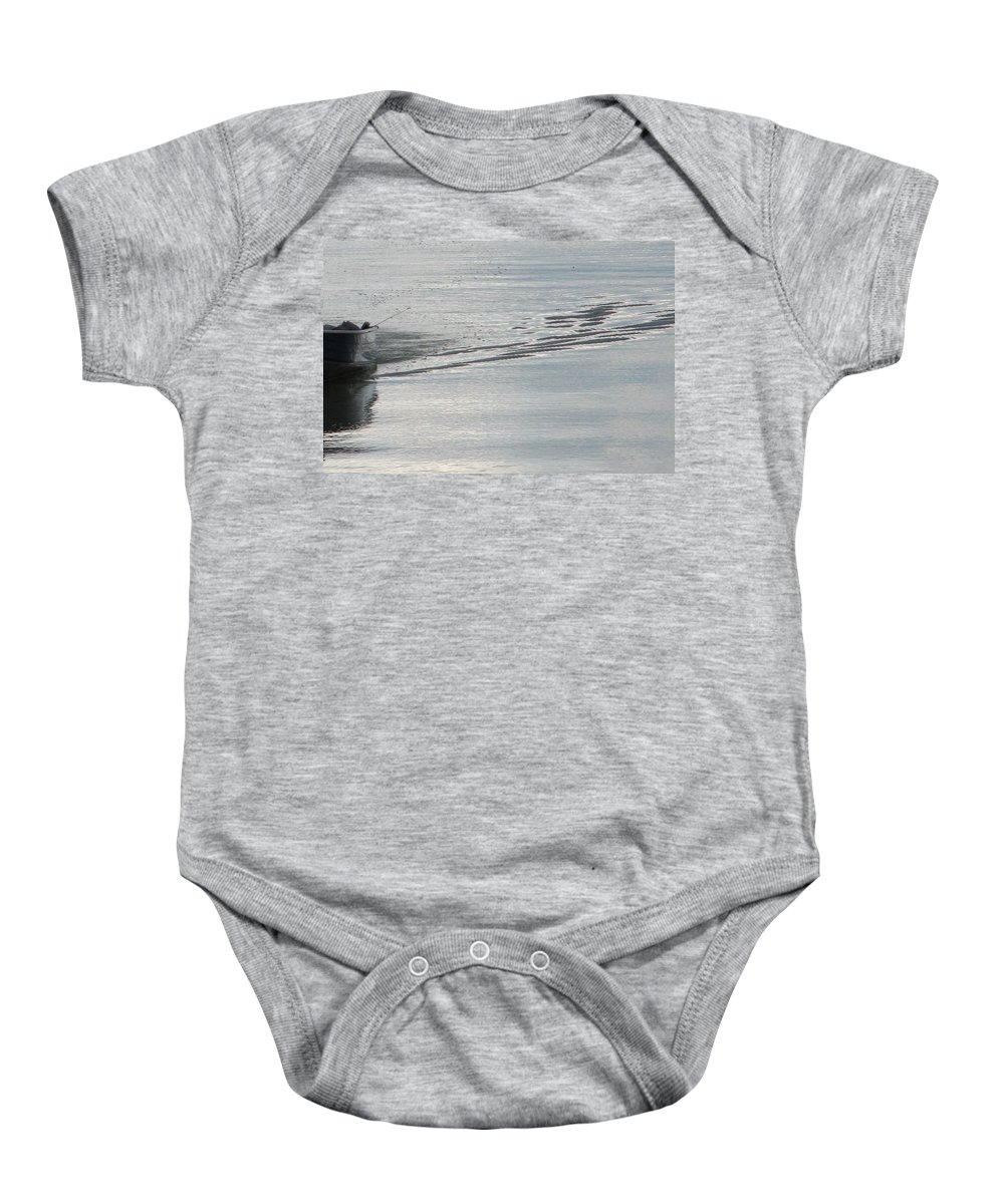 Lake Baby Onesie featuring the photograph Back To The Dock by Kelly Mezzapelle