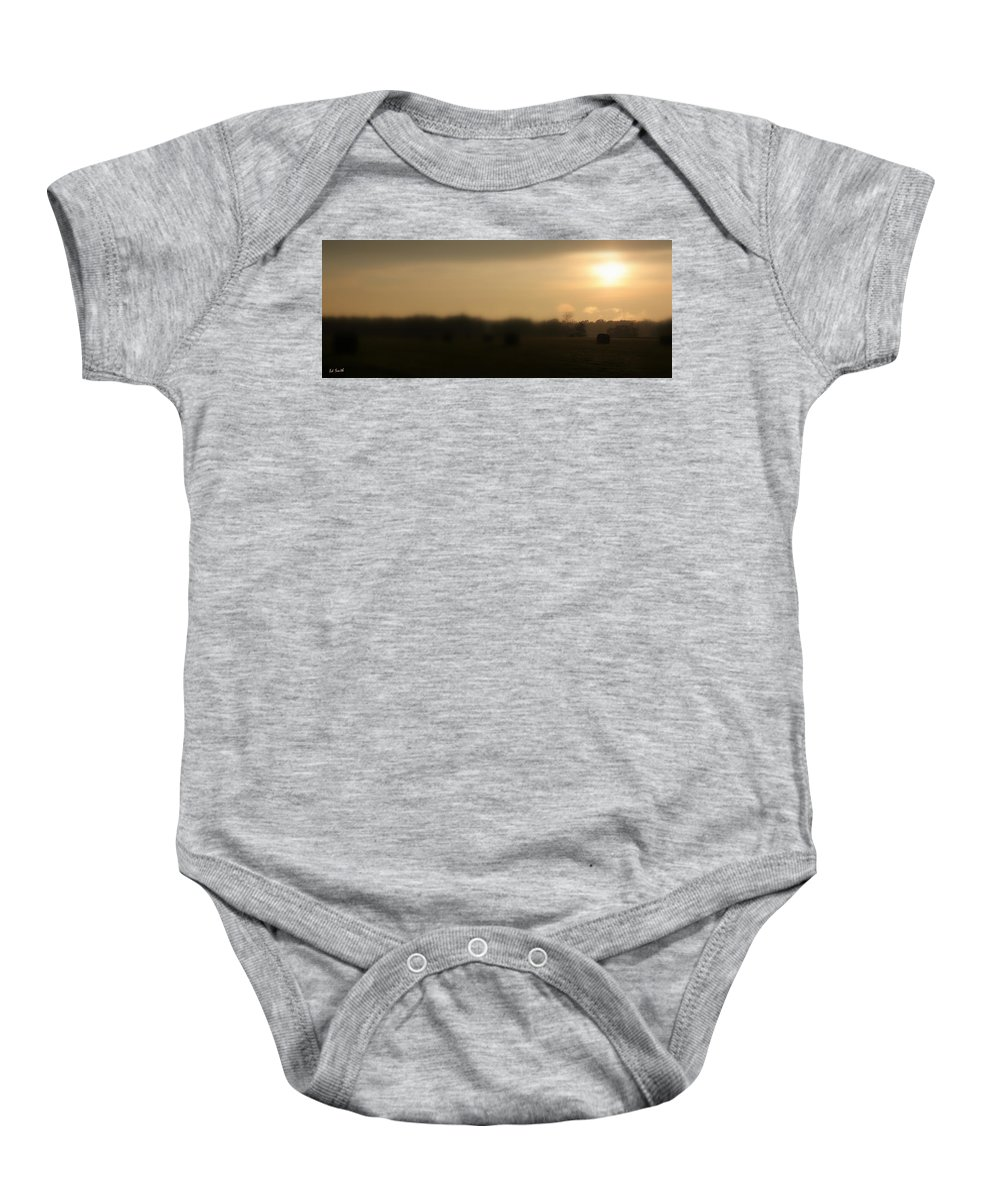 Bailed Out Baby Onesie featuring the photograph Bailed Out by Ed Smith