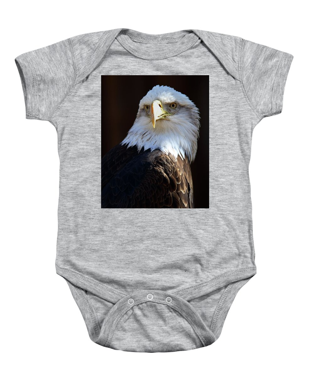 Nature Baby Onesie featuring the photograph Bald Eagle by David Salter