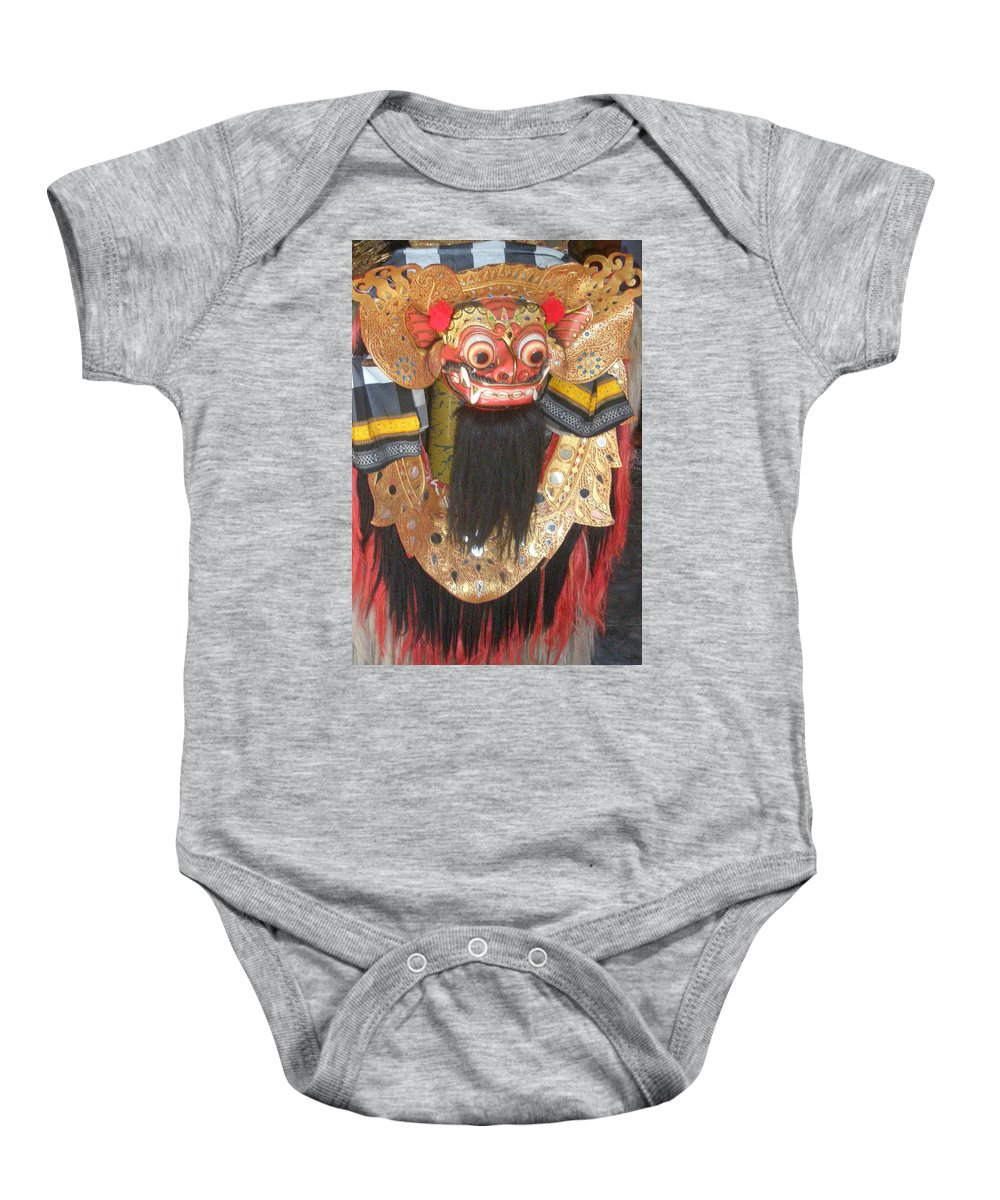 Bali Baby Onesie featuring the photograph Balinese Barong by Mark Sellers