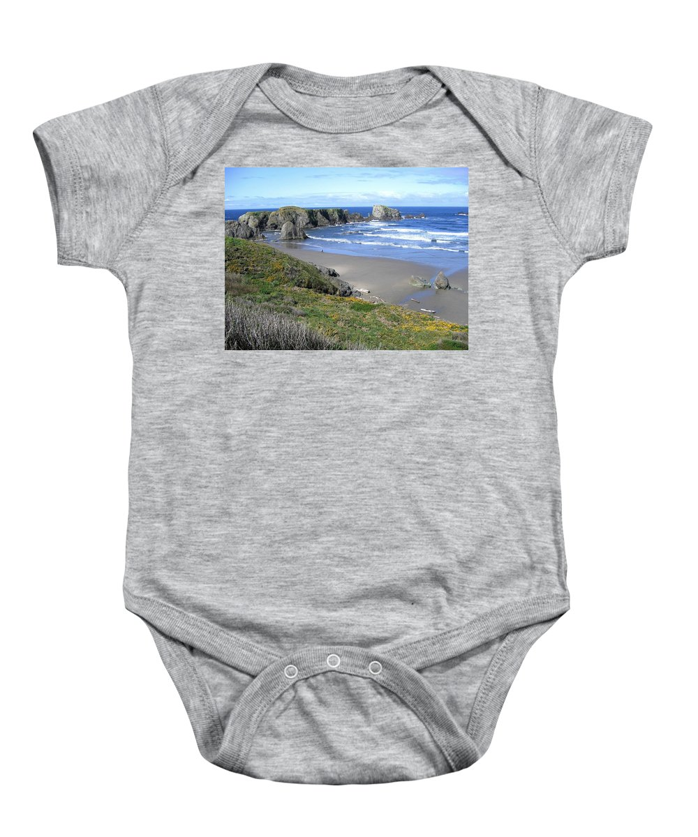 Bandon Baby Onesie featuring the photograph Bandon 8 by Will Borden