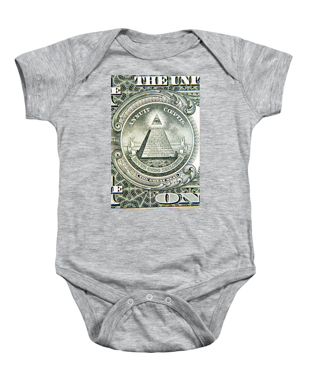 American Baby Onesie featuring the photograph Banknote Detail by Les Cunliffe