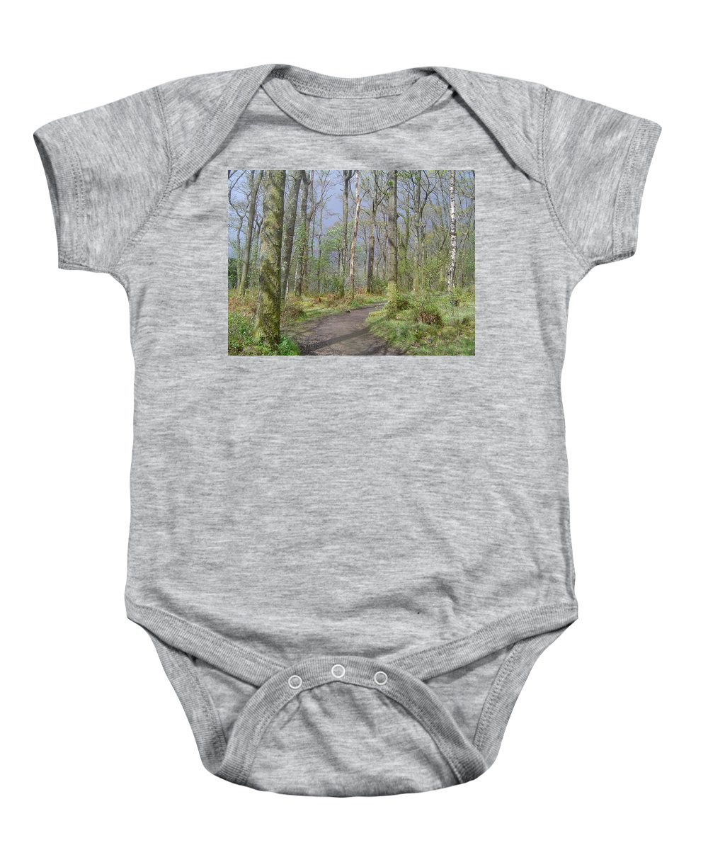 Loch Lomond Baby Onesie featuring the photograph Banks Of Loch Lomond, Scotland by Wendy Davies