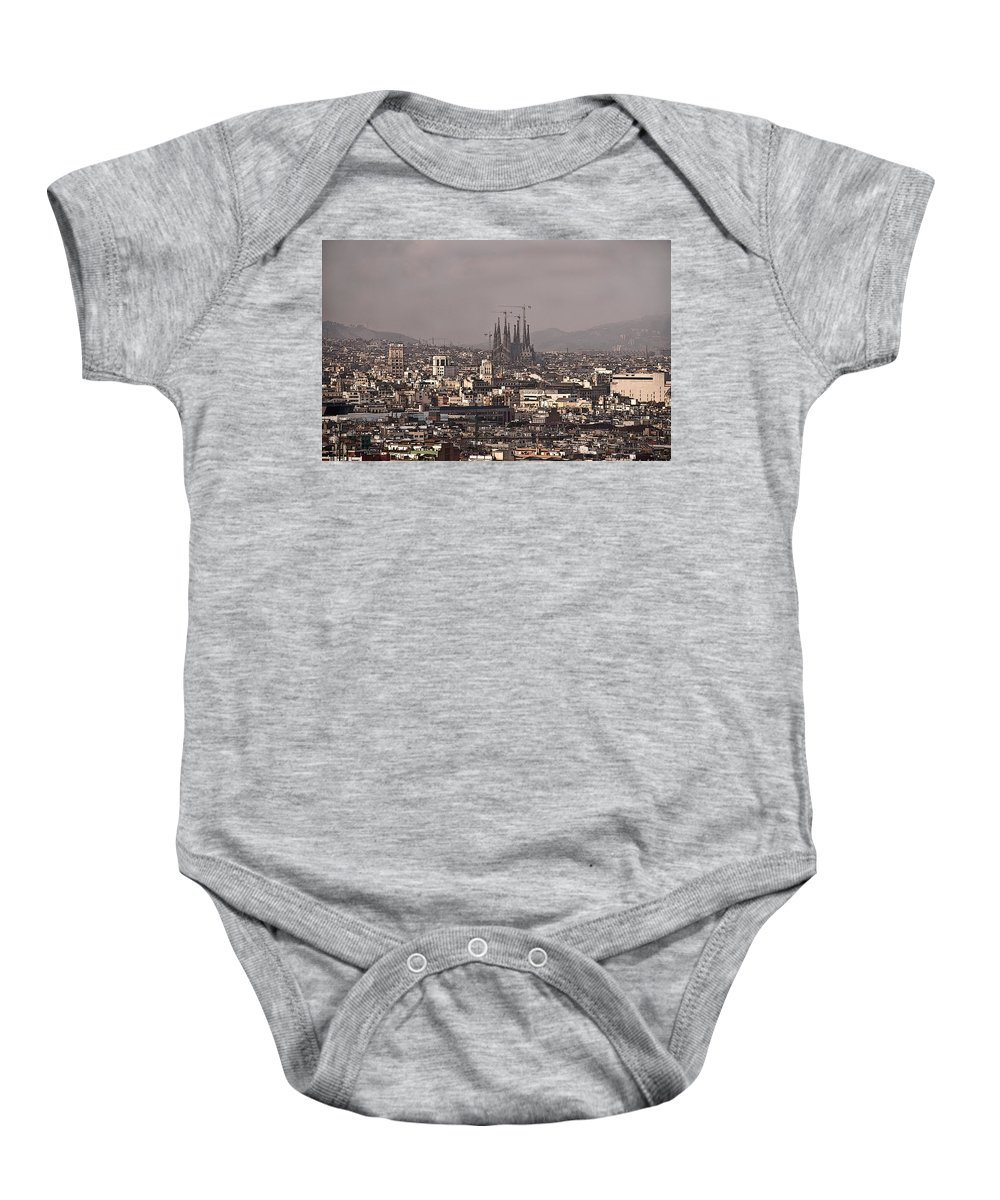 Barcelona Baby Onesie featuring the photograph Barcelona by Steven Sparks