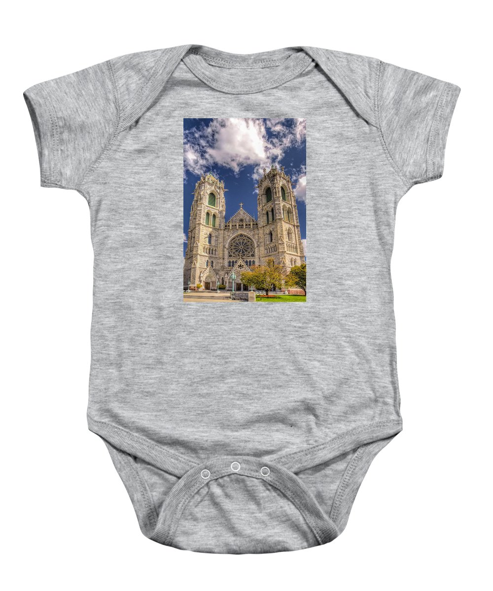 Recent Baby Onesie featuring the photograph Basilica Of The Sacred Heart Newark New Jersey by Geraldine Scull