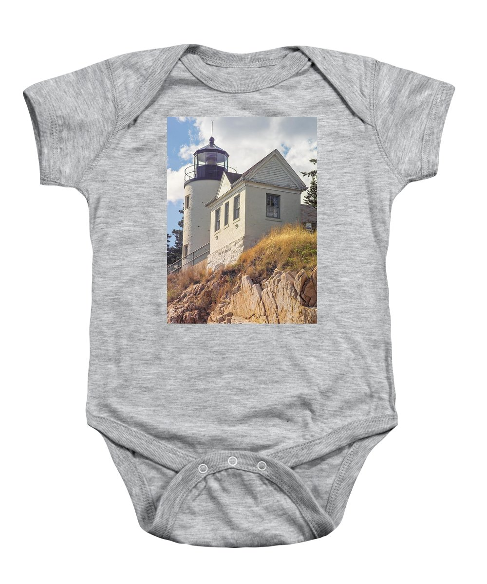 Lighthouse Baby Onesie featuring the photograph Bass Harbor Light Photo by Peter J Sucy