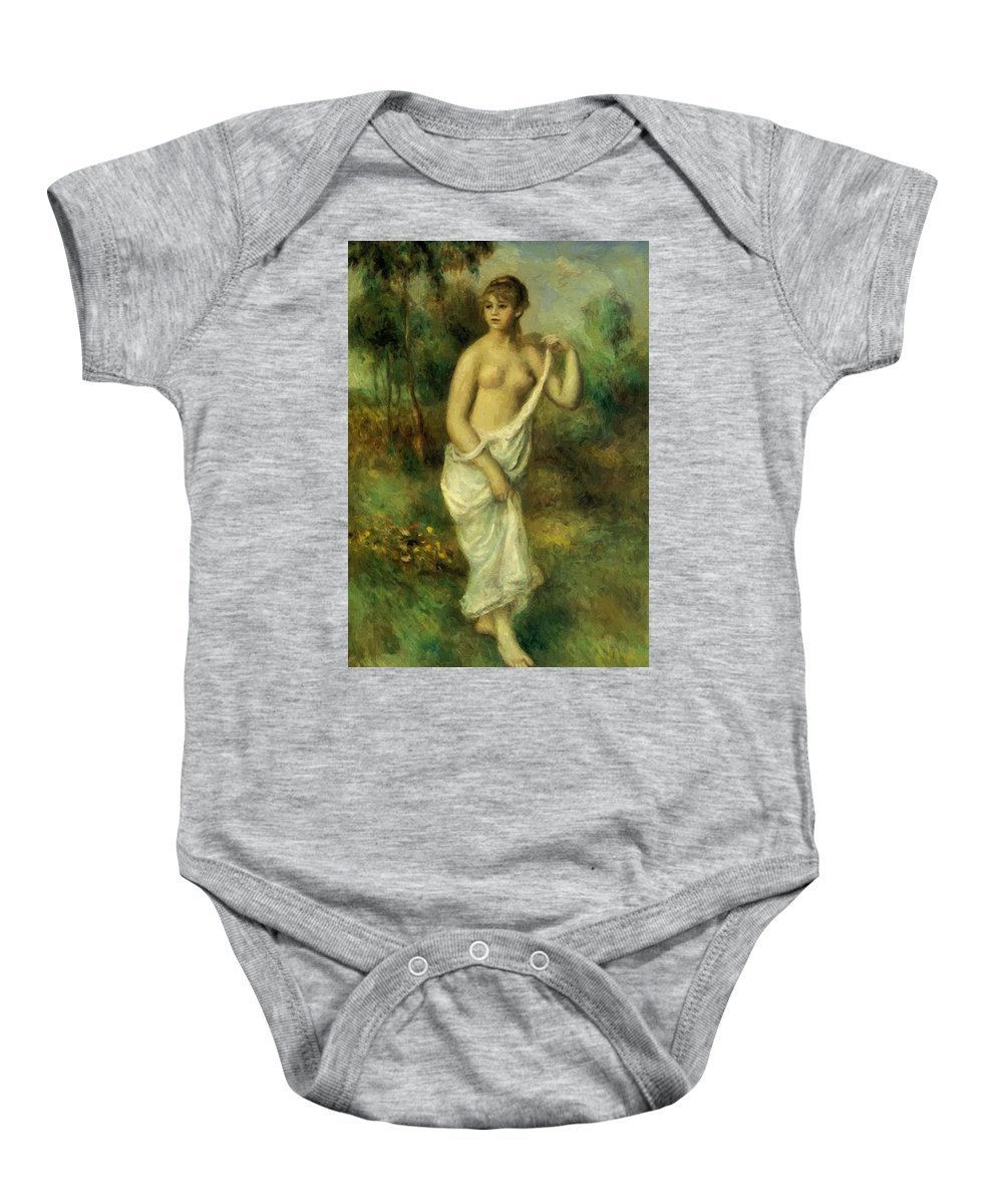 Bather Baby Onesie featuring the painting Bather 1887 1 by Renoir PierreAuguste