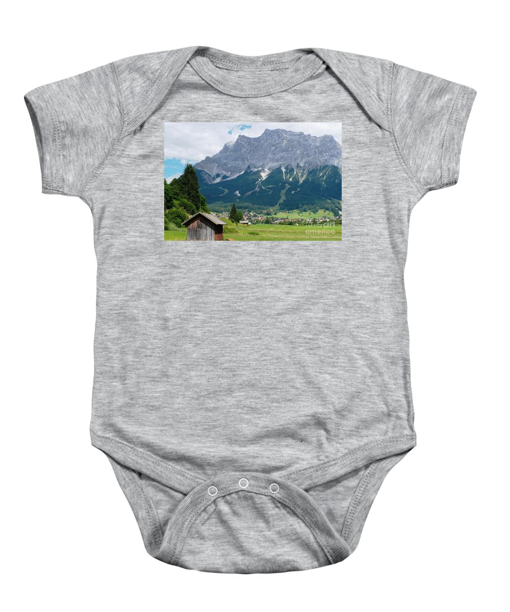 Landscape Baby Onesie featuring the photograph Bavarian Alps Landscape by Carol Groenen