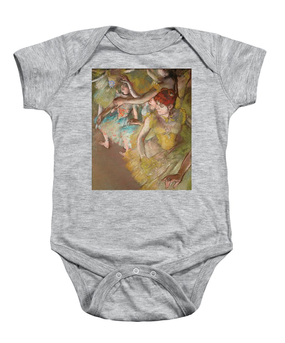 Ballet Dancers Baby Onesie featuring the painting Ballet Dancers On The Stage by Edgar Degas