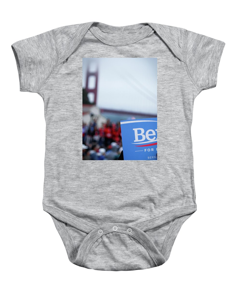 Feel The Bern Baby Onesie featuring the photograph Be For Bern by Nick Mattea