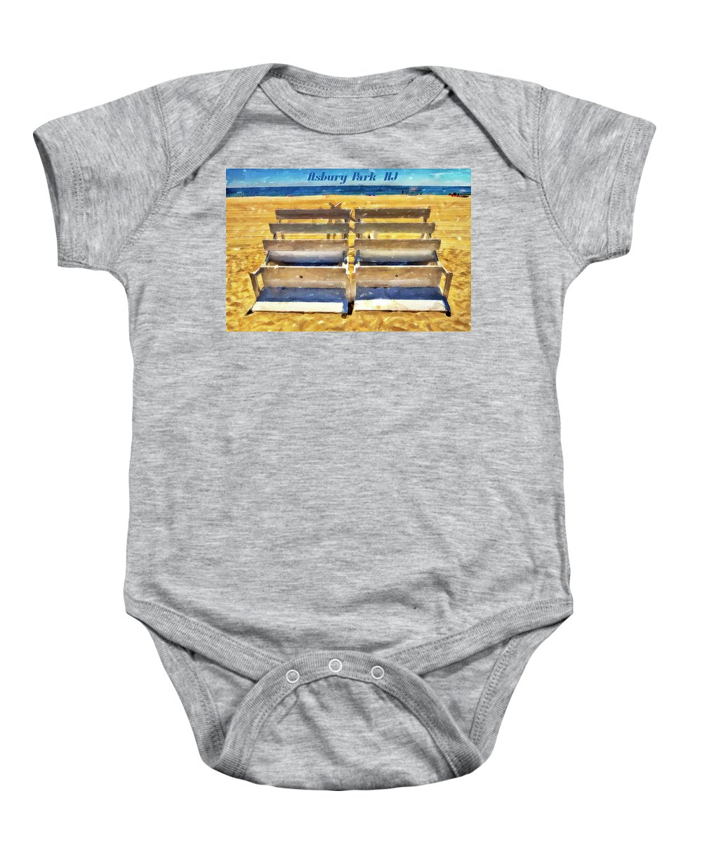 Recent Baby Onesie featuring the photograph Beach Closed Asbury Park Nj by Geraldine Scull