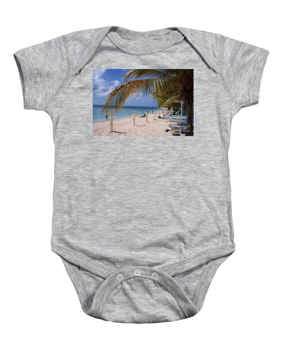 Beach Baby Onesie featuring the photograph Beach Grand Turk by Debbi Granruth