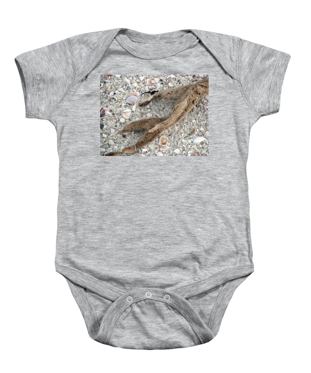 Sand Baby Onesie featuring the photograph Beach Scape by Amanda Barcon
